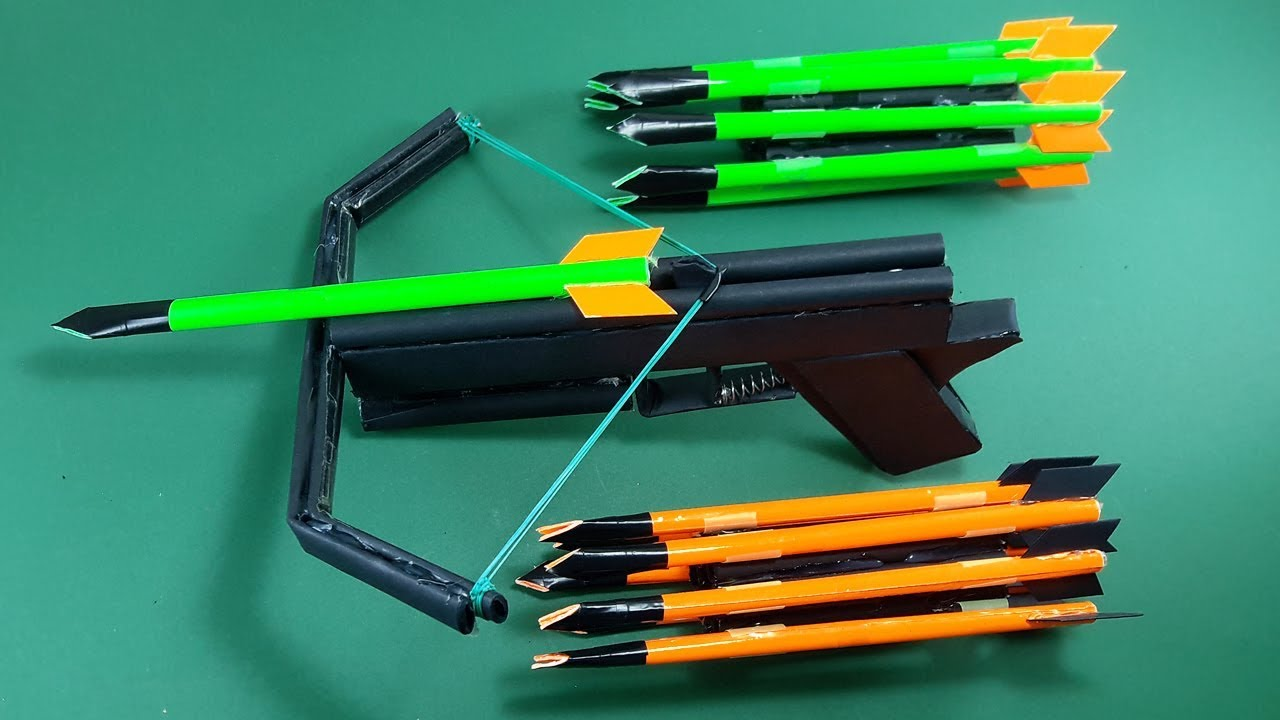 how to make a paper crossbow toy weapons by dr