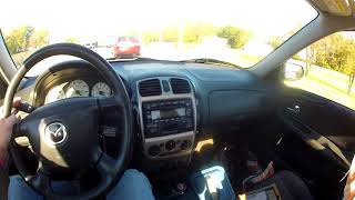 2001 Mazda Protege 2.0 5spd Highway Drive Test Drive 190k miles