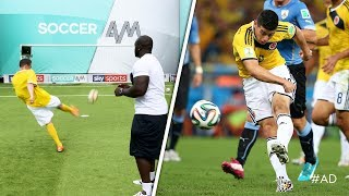Akinfenwa & Smithy recreate LEGENDARY Colombia World Cup goal!