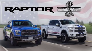 2017 Ford Raptor vs 700hp Shelby F150 Review - American Legends thumbnail