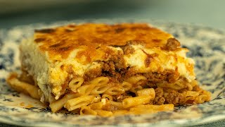 Classic Greek Pastitsio: Pasta Tray Bake Lasagna