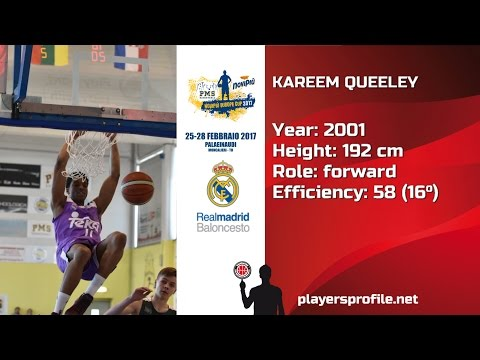 Players Profile: Kareem Queeley (Real Madrid) Moncalieri 2017