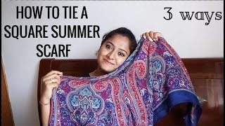 How to tie a SQUARE summer scarf - SheesOne Channel