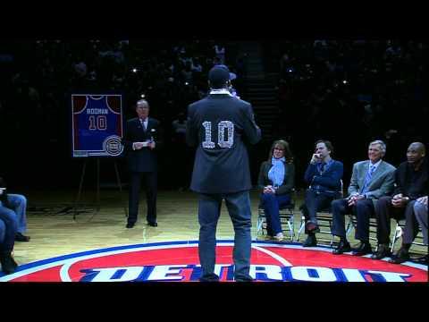 Pistons retire Dennis Rodman's number