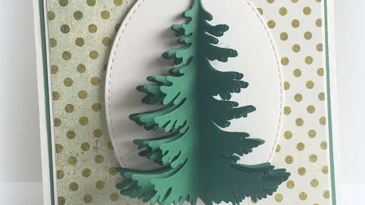 How To Make A Dimensional Christmas Tree Card Diy Crafts Tutorial