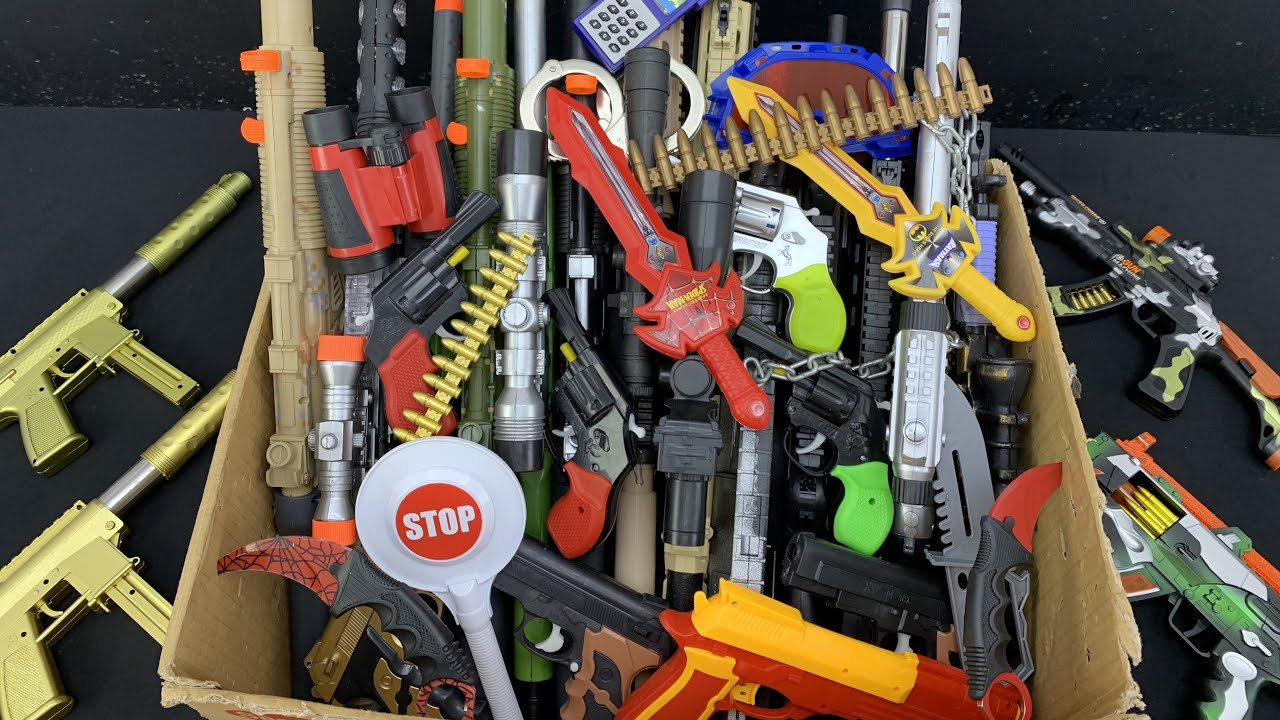 Amazing Rifle Toy Box! Tech Pistols and Guns! Collection of the Army Lords!