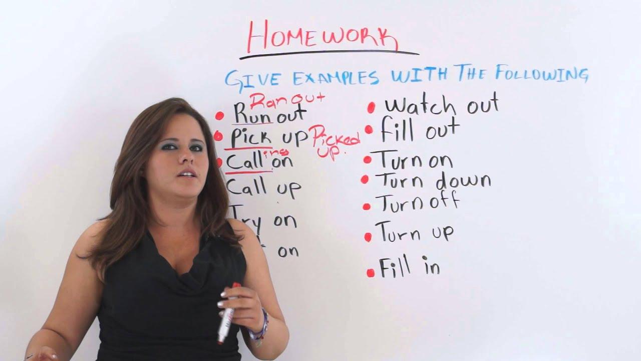 Phrasal Verbs AND Two-Word Verbs - English Grammar - YouTube