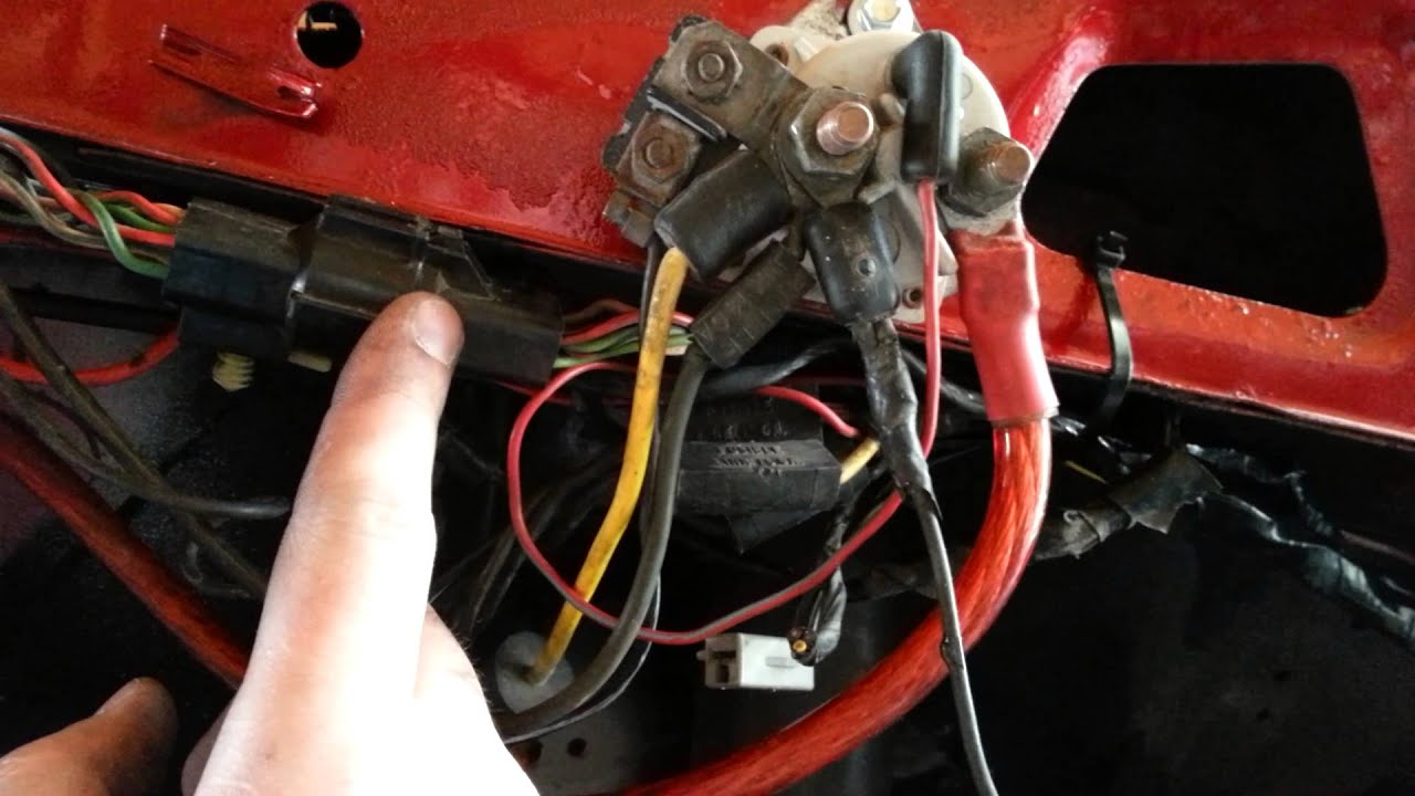 1986 Ford F150 Starter Solenoid Wiring Diagram 2003 Dodge Ram Radio Fox Mustang Wire Tuck Tips - Youtube