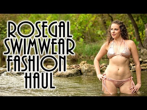 2017 Fall Swimsuit Fashion Haul & Try On | ASMR Ear Massage,