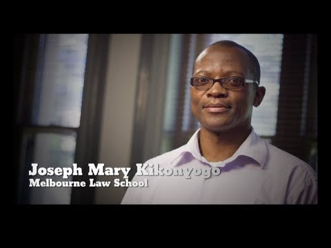 Joseph Mary Kikonyogo - Melbourne Law School
