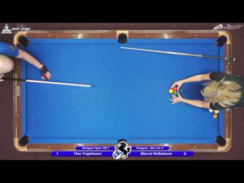 Stuttgart Open 2017, No. 09, Tina Vogelmann vs. Marcel Nottebaum, 10-Ball, Pool-Billard