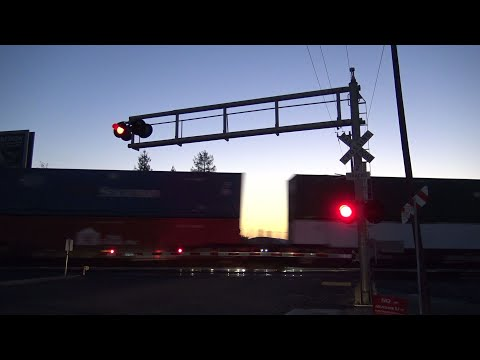 UP 7468 ZBRLA Intermodal South, 14th Ave. Railroad Crossing, Sacramento CA