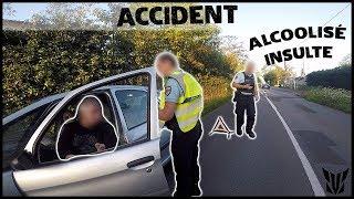 ACCIDENT - IL MANQUE DE NOUS ECRASER ET INSULTE LES FLICS 😱
