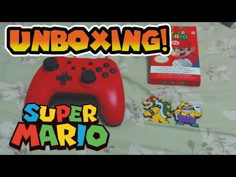 CHEAP Super Mario Nintendo Switch Pro Controller & Collector's Pins Unboxing!
