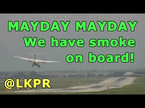 [REAL ATC + REAL VIDEO] CSA ATR-72 SMOKE ON BOARD at Prague