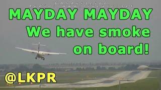 [REAL ATC + REAL VIDEO] CSA ATR-72 SMOKE ON BOARD at Prague