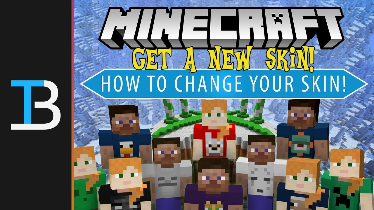 How To Change Your Skin in Minecraft 11.111+ (How To Get A New Minecraft  Skin!)