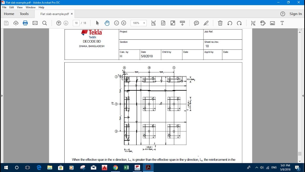 FLAT SLAB DESIGN IN TEKLA TEDDS 2018 - Revit news
