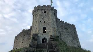 Cardiff Castle in Cardiff Wales Going up The Keep