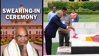Ramnath Kovind pays tribute to Mahatma Gandhi at Rajghat