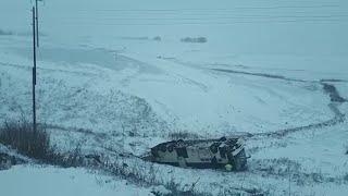 Опубликовано видео с места ДТП в Тамбовской области с автобусами «Москва-Волгоград»