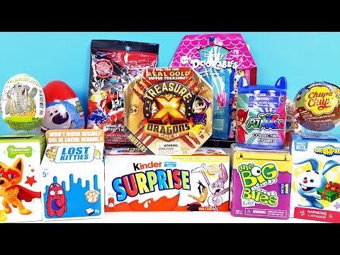 15 Киндер Сюрпризов,Unboxing Kinder Surprise TREASURE X Dragon Gold,Little Big Bites,PJ Masks,Disney