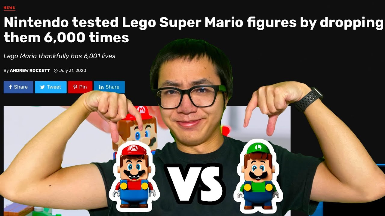 DROPPING LEGO MARIO/LUIGI UNTIL THEY BREAK - LIVE