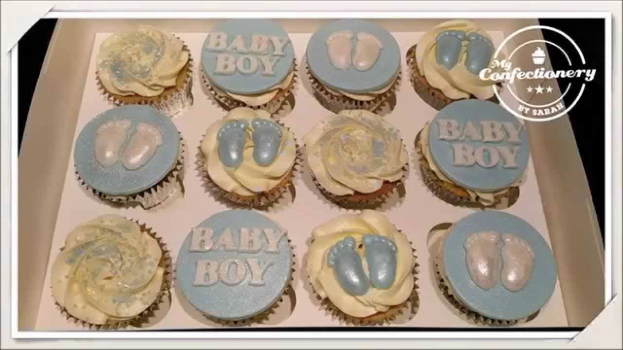 Baby Shower Cupcakes & Edible Glitter Cupcake Toppers
