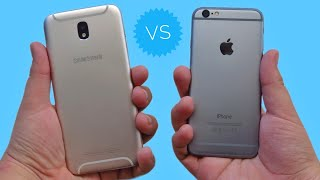 SAMSUNG GALAXY J7 PRO VS IPHONE 6 🔥