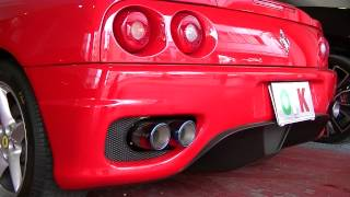 Ferrari 360 modena POWER CRAFT EXHAUST SOUND by OFFICE-K TOKYO