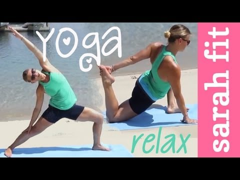 beach yoga workout  yoga real time workout  youtube
