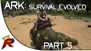 "Ark: Survival Evolved Gameplay - Part 5: ""Riding a Dinosaur!"" (Early Access)"