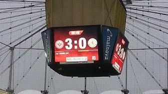 Eintracht Frankfurt vs Eintracht Braunschweig   Das 2-0 und 3-0