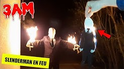 NE JAMAIS BRÛLER LA POUPÉE VAUDOU SLENDERMAN à 3H DU MATIN ! (regarder ce qui est arrivé...)
