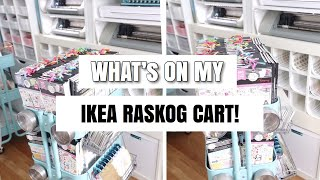 Whats On My IKEA RASKOG Cart | Organization | At Home With Quita