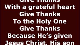 Give Thanks karaoke