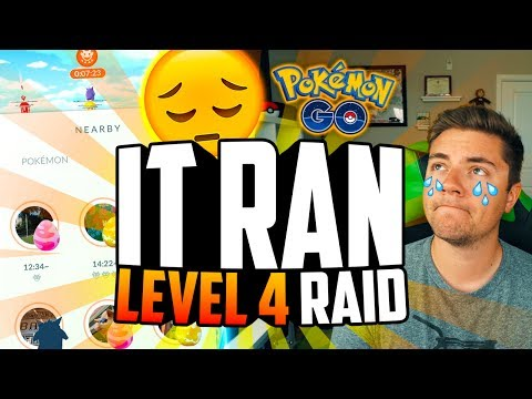 Pokemon Go - IT RAN... (RARE LEVEL 4 RAID BOSS!)