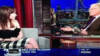 Dakota Johnson on Late Show With David Letterman 2/17