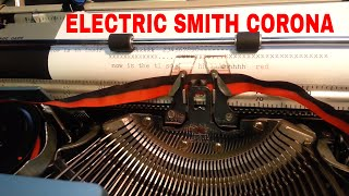 Smith Corona Electric Typewriter Best Portable Ever ! Rebranded Sears too Demo Ribbon Type