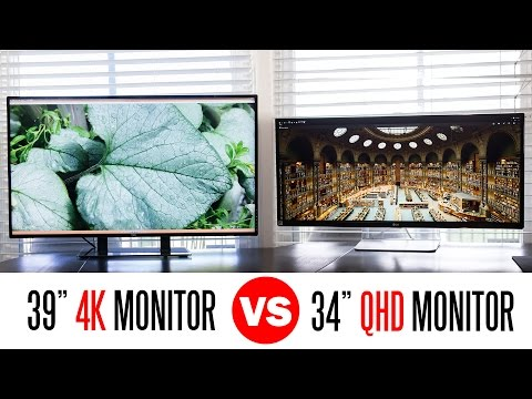 """Whats Better A 39"""" 4k Monitor Or A 34"""" QHD UltraWide Monitor?"""