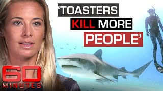 Shark free-diver says she's not afraid of the apex predators | 60 Minutes Australia