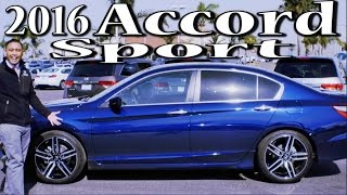 2016 Honda Accord Sport Review & Drive Footage