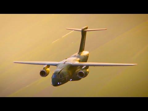 Embraer - KC-390 Multi-Mission Transport Aircrafts Tandem Flight Tests [1080p]