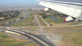 Landing in Bangkok, Nov 2011 - the water is still on the fields around the airport