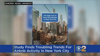 Airbnb has removed between 7000 and 13500 units of housing from New York City's long-term rental market. Matt Yurus reports.