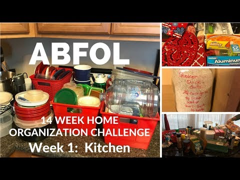 CLEAN with ME  ||  ABFOL CHALLENGE  ||  Week 1:  Kitchen Cabinets and Counter Tops