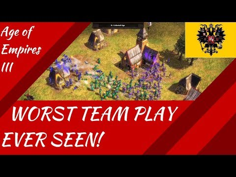 WORST Team Play EVER Seen!! Age of Empires III