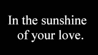 cream- sunshine of your love with lyrics
