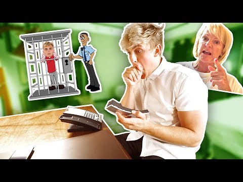 Thumbnail: CALLING MY MOM FROM JAIL PRANK **she freaked out**