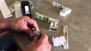 Paper Gun made with Money (The Original Gift Gun)
